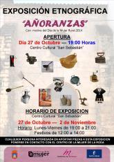 La exposici�n etnogr�fica �A�oranzas� se celebrar� del 27 de octubre  al 2 de noviembre