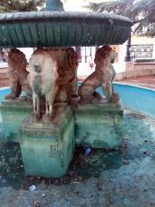 Obras de remodelaci�n en la fuente de la Plaza Mayor