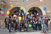 Manifiesto y suelta de globos en el D�a Internacional de los Derechos del Ni�o