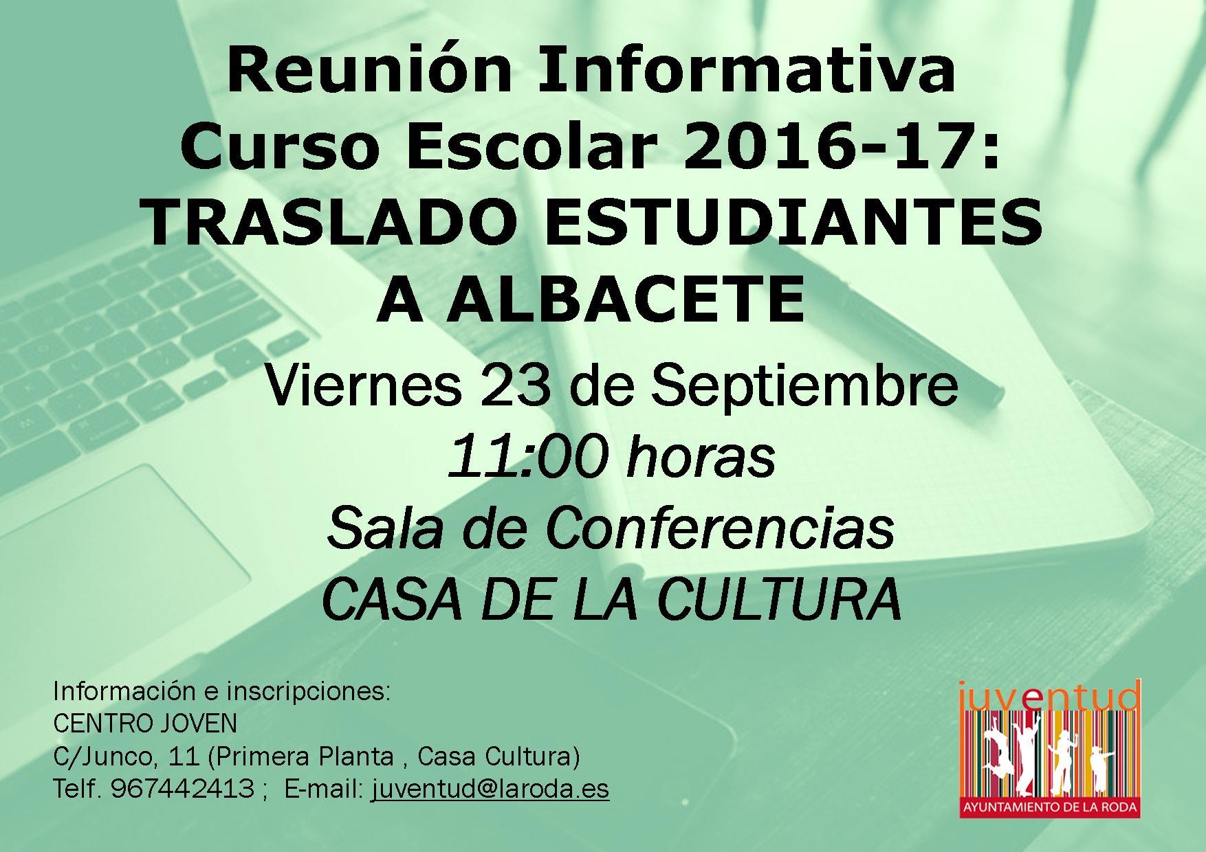 Juventud Abordará Con Los Estudiantes Las Alternativas Idóneas Para Viajar A Albacete Este Curso