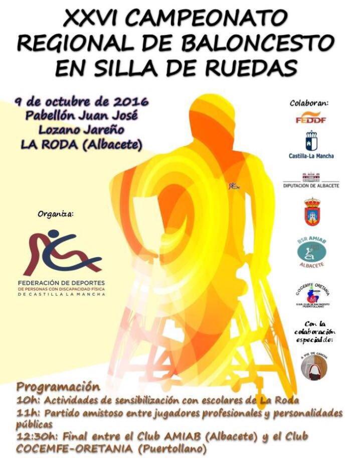 Cartel Baloncesto En Silla Ruedas