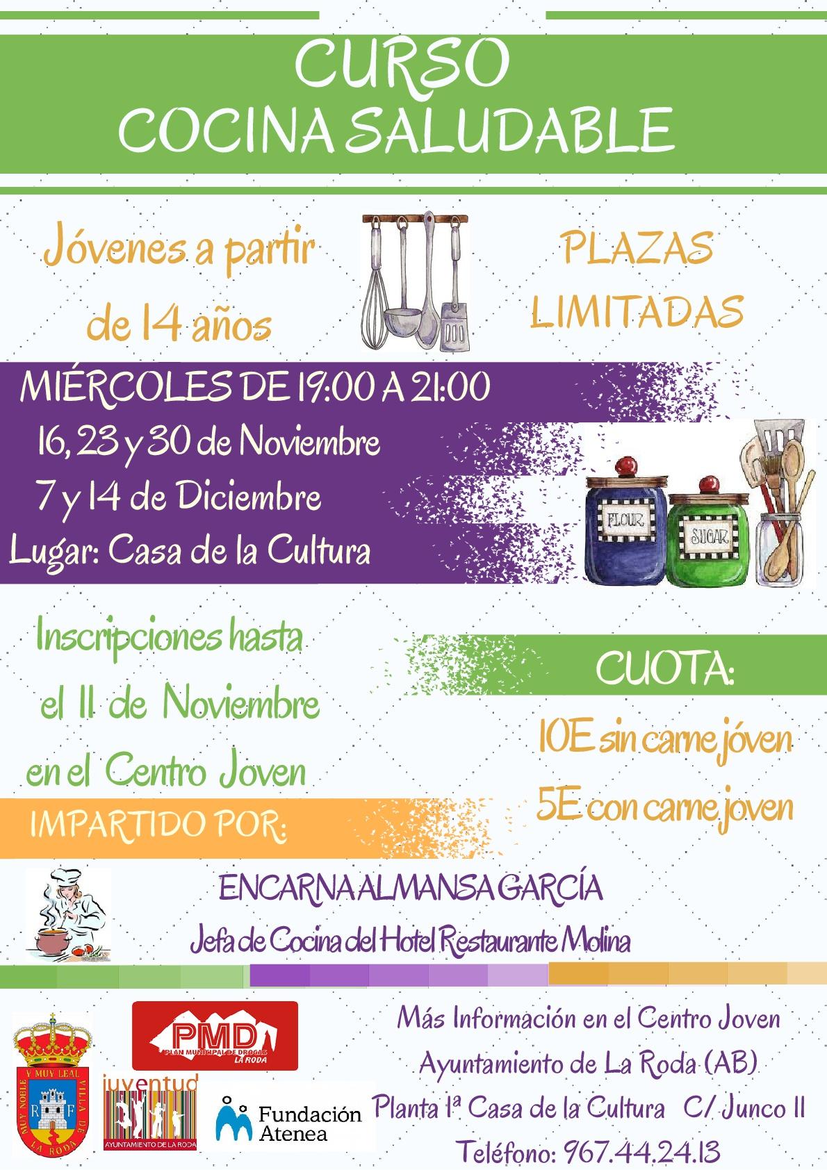 Curso de cocina saludable para j venes ayuntamiento for Cursos de cocina en badajoz