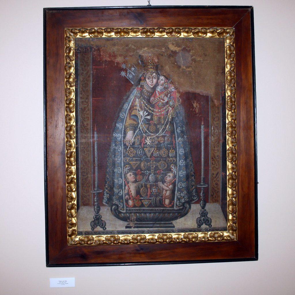Virgen Con Niño. Pintura Sacra