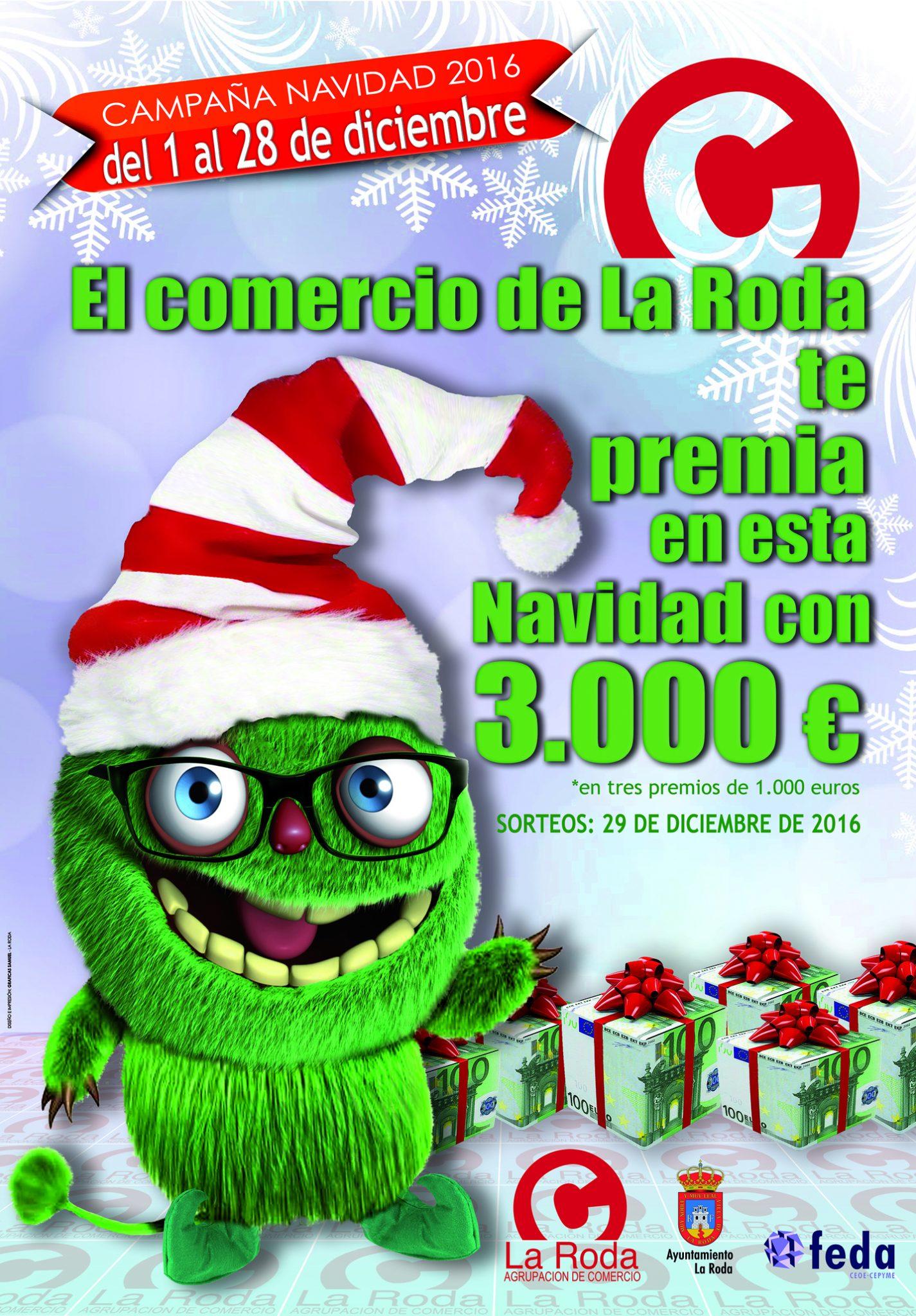 Cartel Campaña De Navidad Del Comercio De La Roda