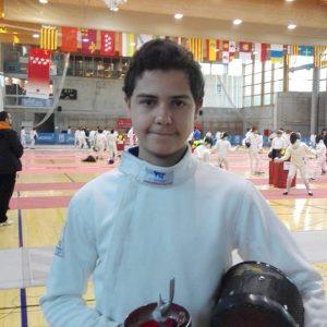 Javier Moreno, En El TNR De Esgrima Celebrado En Madrid