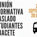 Reunión Informativa Sobre Traslado De Estudiantes A Albacete