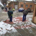 Limpieza De Accesos A Edificios Públicos, Colegios Y Zonas De Mayor Tránsito