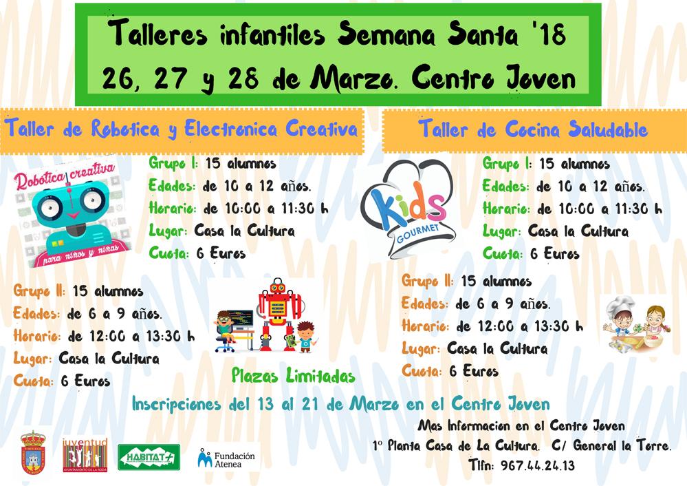 Talleres Infantiles Semana Santa '1826, 27 Y 28 De Marzo