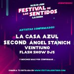 Second, Ángel Stanich, Veintiuno Y Flash Show Djs  Se Suman Al Cartel De #Sentidos19