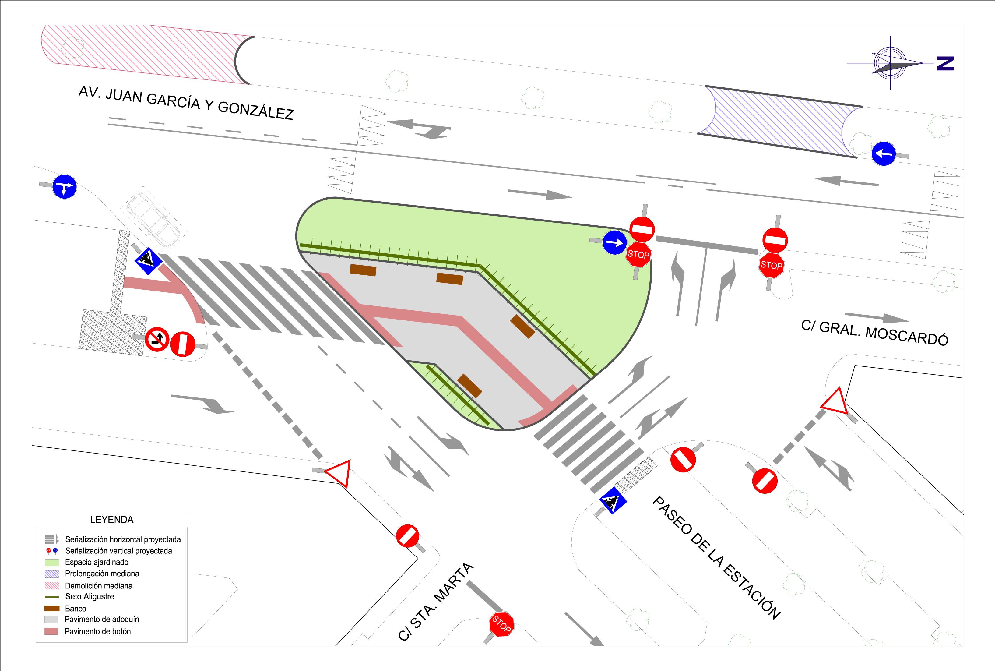 Se Construirá Una Rotonda En La Confluencia Del Paseo De La Estación Con Avenida Juan García Y González