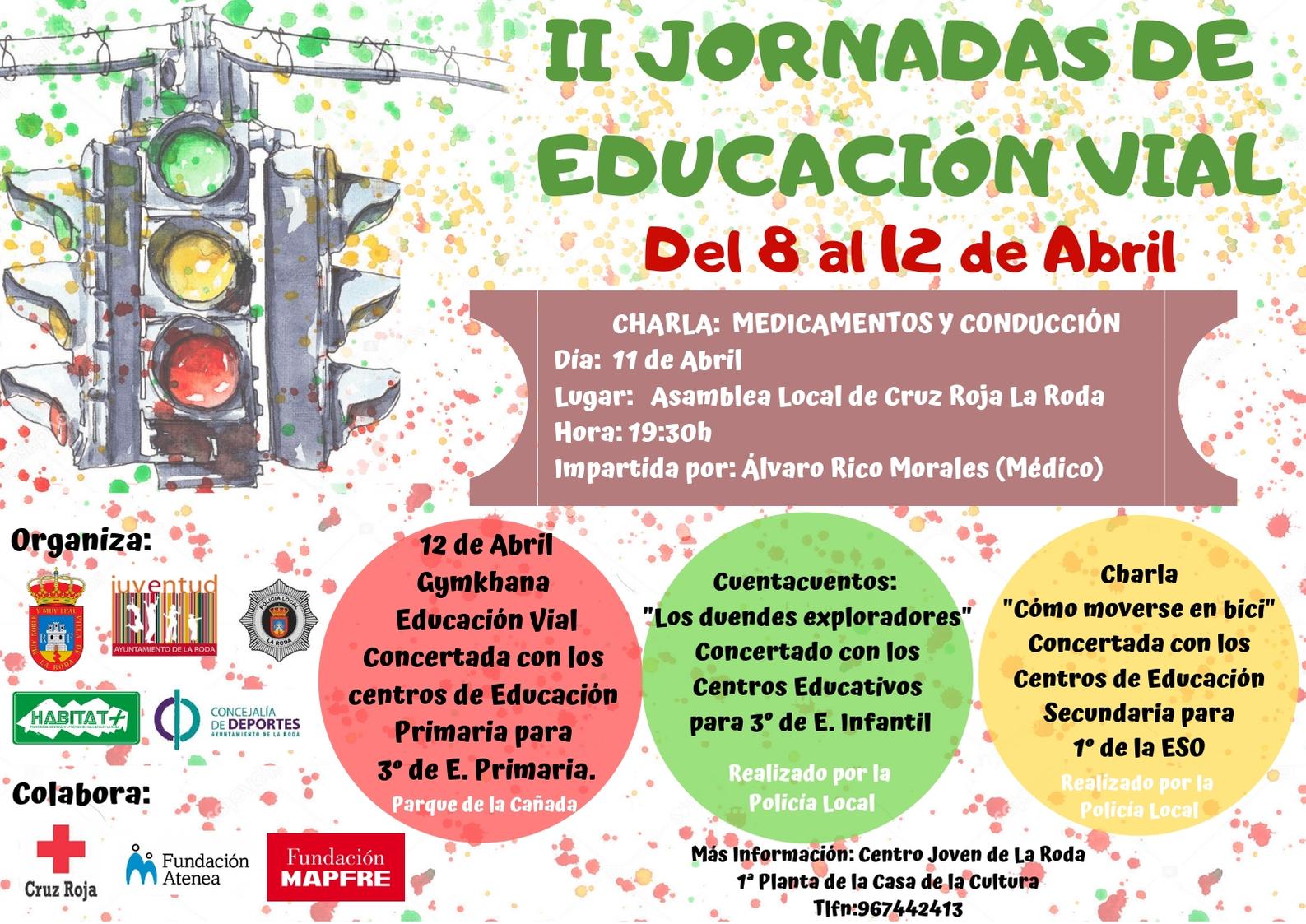 Cartel II Jornadas Educación Vial