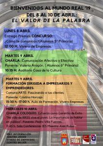 Jornadas Bienvenidos al Mundo Real '19 @ Casa de la Cultura y Vivero de Empreseas