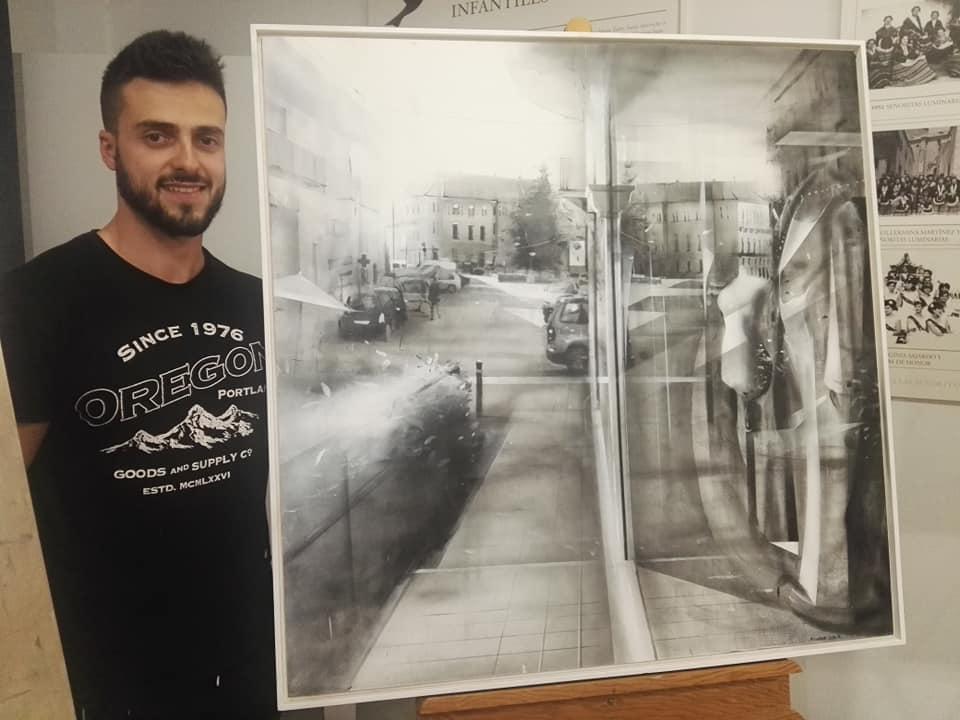 El Joven Madrileño Richard García, Ganador Del V Concurso De Pintura Rápida Fundación Antonio Carrilero