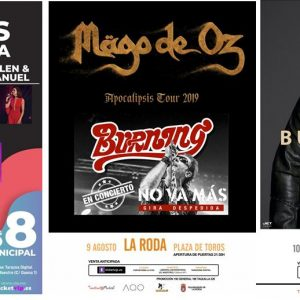 Abierta La Venta Anticipada De Los Conciertos De Las Fiestas Patronales De La Roda 2019