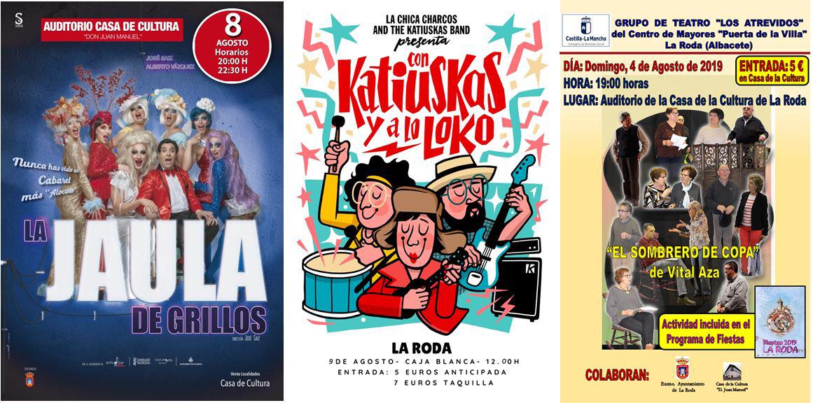 """""""Jaula De Grillos"""" Y La Chica Charcos, Teatro Para Grandes Y Pequeños En Las Fiestas De La Roda"""