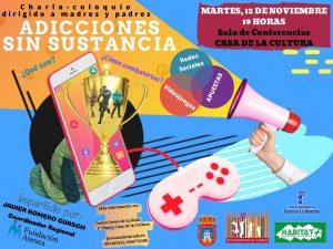 Charla-coloquio Adicciones Sin Sustancia @ Sala de Conferencias Casa de la Cultura