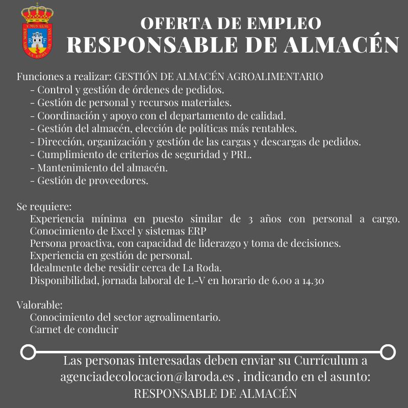 RESPONSABLE ALMACÉN