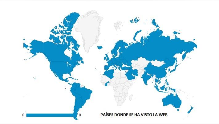 Países Donde Se Ha Visto La Web