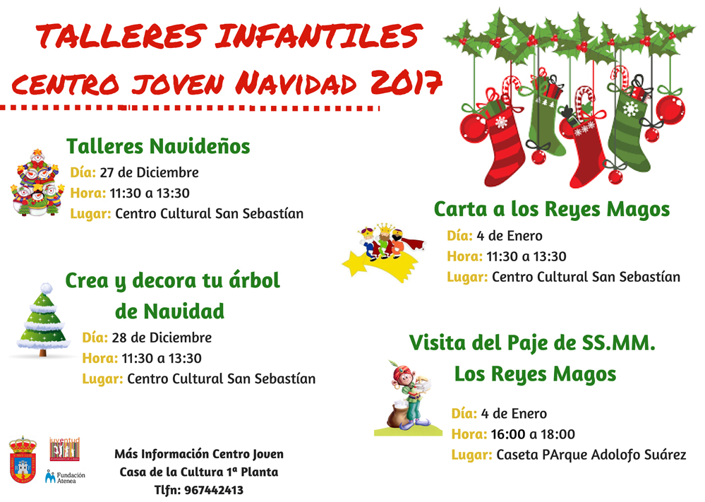 TALLERES INFANTILESNavidad 2017