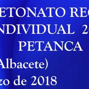 Campeonato Regional De Petanca, Este Domingo En La Roda