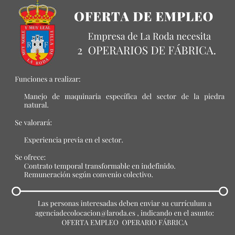 OPERARIO FÁBRICA