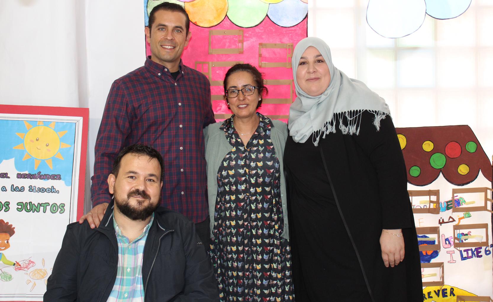 Con Directora (centro) Y Pta AMPA (dcha)