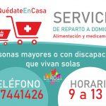 El Ayuntamiento Activa Un Servicio Domiciliario De Reparto De Alimentación Y Medicamentos