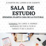 La Casa De La Cultura Contará Con La Sala De Estudio Habilitada En Agosto