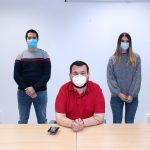 Juan Ramón Amores Agradece La Labor De Los Tres Jóvenes Cualificados